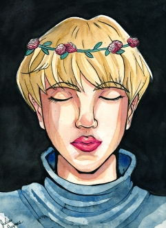 """""""Jin."""" 9x12"""", ink and watercolor."""